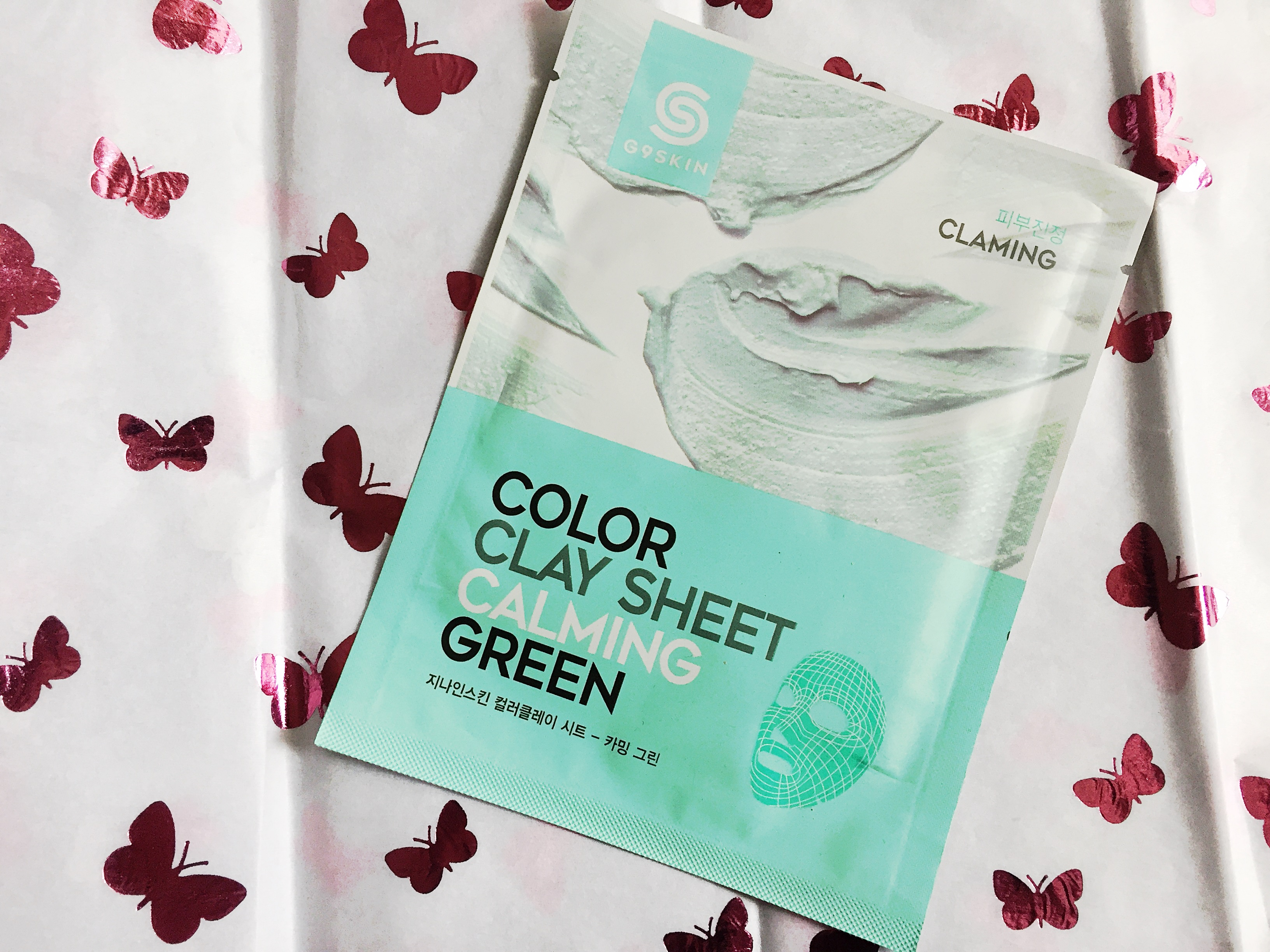 Skincare Review   G9Skin Clay Sheet Mask